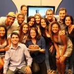 Equipe comemora 1 ano de telejornal